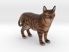 Custom Cat Figurine - Jackson in Full Color Sandstone