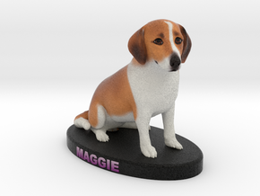 Custom Dog Figurine - Maggie in Full Color Sandstone