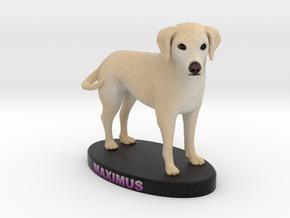 Custom Dog Figurine - Maximus in Full Color Sandstone
