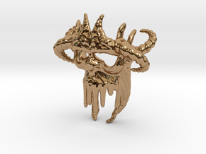 Skull-028-new scale in 3cm Passed in Polished Brass