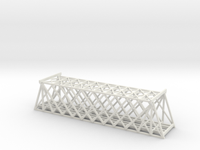 T SCALE DOUBLE TRACK TRUSS BRIDGE in White Natural Versatile Plastic