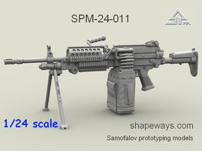1/24 SPM-24-011 m249 MK48mod0 7,62mm machine gun in Smoothest Fine Detail Plastic