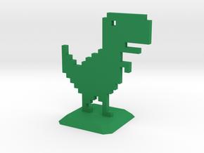 No Internet Dinosaur in Green Processed Versatile Plastic