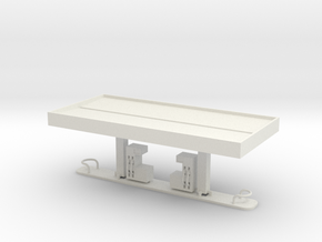 N Scale Gas Station WSF in White Natural Versatile Plastic