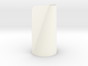 Winged Conical Vase in White Processed Versatile Plastic