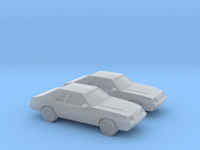 1/160 2X 1986 Ford Mustang GT in Smooth Fine Detail Plastic