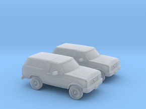 1/160 2X 1989 Ford Bronco in Smooth Fine Detail Plastic