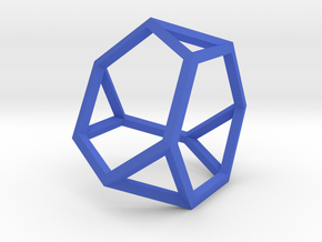 Truncated Tetrahedron(Leonardo-style model) in Blue Strong & Flexible Polished