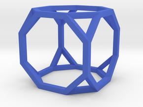 Truncated Cube(Leonardo-style model) in Blue Processed Versatile Plastic