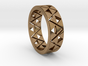 Triforce Ring Size 9 in Natural Brass
