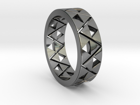 Triforce Ring Size 11 in Fine Detail Polished Silver