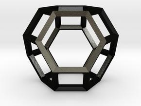 Truncated Octahedron(Leonardo-style model) in Matte Black Steel