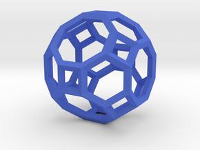 Truncated Cuboctahedron(Leonardo-style model) in Blue Strong & Flexible Polished