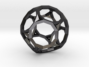 Truncated Dodecahedron(Leonardo-style model) in Polished and Bronzed Black Steel