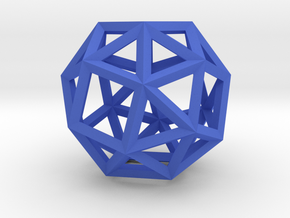 Snub Cube(Leonardo-style model) in Blue Strong & Flexible Polished