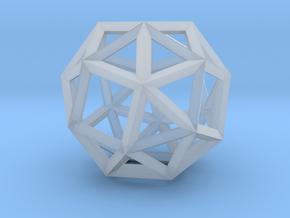 Snub Cube(Leonardo-style model) in Smooth Fine Detail Plastic