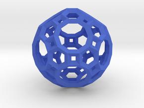 Truncated Icosidodecahedron(Leonardo-style model) in Blue Processed Versatile Plastic
