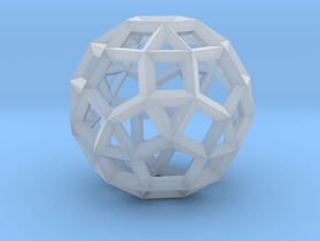 Rhombicosidodecahedron(Leonardo-style model) in Smoothest Fine Detail Plastic