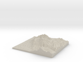 Model of Mt. Timpanogos Summit in Sandstone
