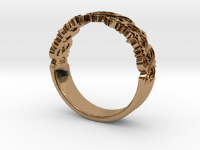 Decorative Ring 1 in Polished Brass