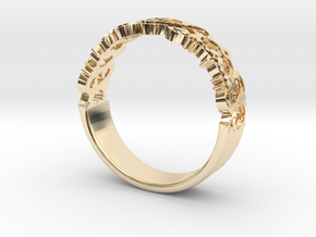 Decorative Ring 1 in 14k Gold Plated Brass