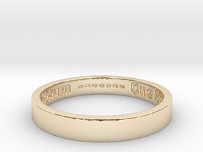 177 tempus edax rerum john titor Ring Size 7 in 14K Yellow Gold