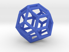 Rhombic Triacontahedron(Leonardo-style model) in Blue Strong & Flexible Polished