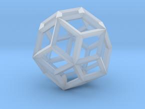 Rhombic Triacontahedron(Leonardo-style model) in Smoothest Fine Detail Plastic