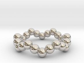 Ring Sphere 1 waved in Platinum