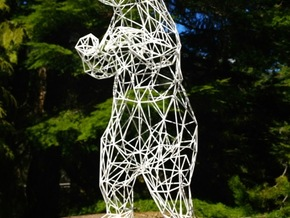 Young and Foolish Wireframe Bear - 40cm in White Strong & Flexible