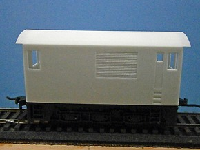 O Scale Critter Body in White Natural Versatile Plastic