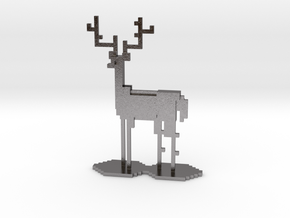 The Pixel Stag in Polished Nickel Steel