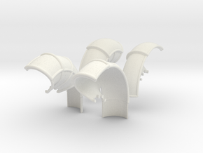 10-Folded LRV - Fenders in White Natural Versatile Plastic