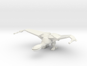 1/2500 BoP Scoutship (wings up - landing) in White Natural Versatile Plastic