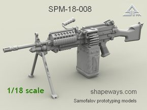 1/18 SPM-18-007 m249 MK48mod0 7,62mm machine gun in Smoothest Fine Detail Plastic