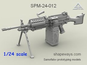 1/24 SPM-24-012 m249 MK48mod0 7,62mm machine gun in Frosted Extreme Detail