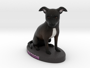 Custom Dog Figurine - Watson in Full Color Sandstone