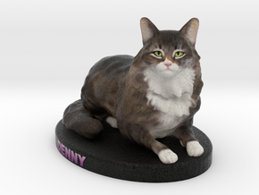 Custom Cat Figurine - Denny in Full Color Sandstone