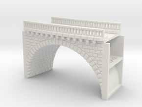 NV1M7 Modular viaduct 1 track in White Natural Versatile Plastic
