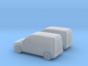 1/160 2002-08 2X Ford Transit Connect in Smooth Fine Detail Plastic
