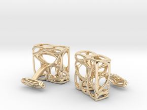 Organic Cufflinks in 14k Gold Plated Brass