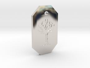Gared's Pendant in Platinum