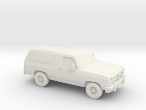 1/64 1991-93 Dodge Ramcharger in White Natural Versatile Plastic