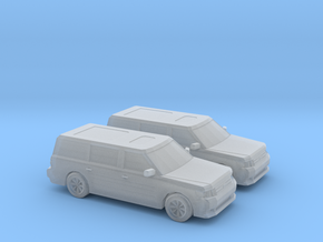 1/160 2X 2011 Ford Flex in Smooth Fine Detail Plastic