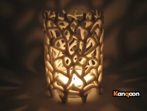 Coraline S. Tealight White Sandstone in Full Color Sandstone