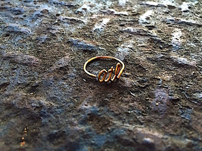 ATL Wire Ring (Adjustable) in Raw Brass