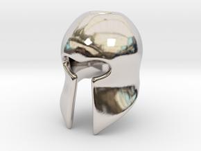 Helm in Rhodium Plated Brass