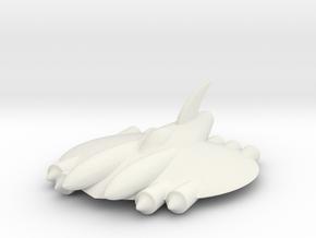 """RetroRocket """"Aquarius in White Natural Versatile Plastic"""