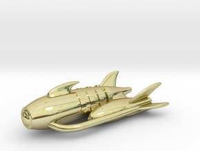 "RetroRocket ""Capricorn"" in 18k Gold Plated Brass"