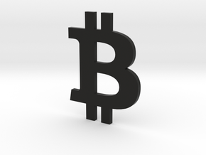 Bitcoin.stl in Black Natural Versatile Plastic